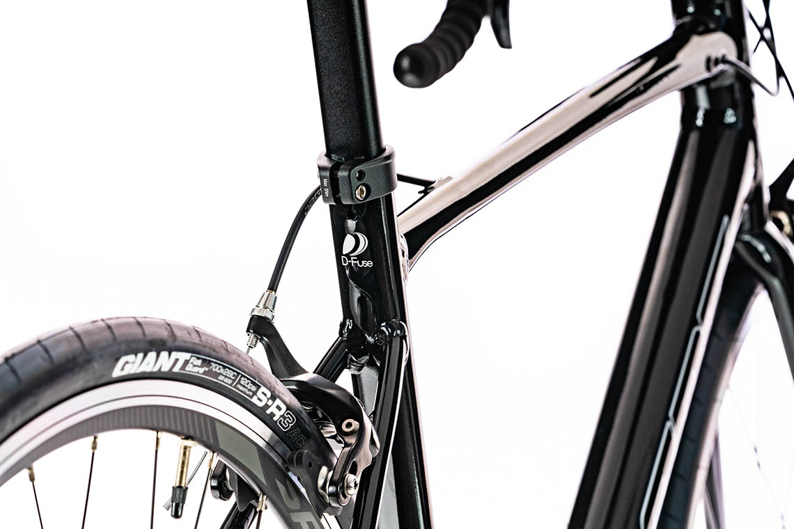 New Giant Defy Fender Set Silver Front and Rear