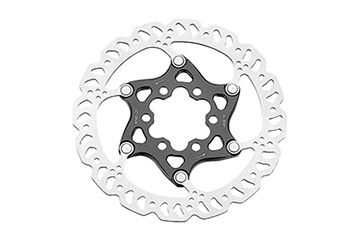 2-PIECE ROAD DISC ROTOR 6-BOLT 140MM